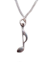 Quaver on 18 inch silver chain